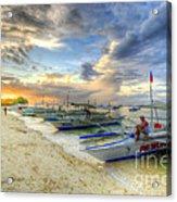 Boats Of Panglao Island Acrylic Print