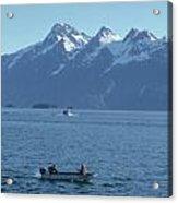 Boats On Alaska's Inside Passage Acrylic Print