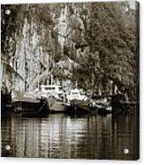 Boats On Halong Bay 1 Acrylic Print