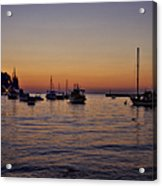 Boats On The Adriatic Sea Acrylic Print