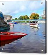 Boats On The Garavogue Acrylic Print