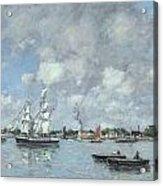 Boats On The Garonne Acrylic Print