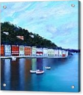 Boats On The Riviera Acrylic Print
