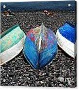 Boats On The Shingle Acrylic Print