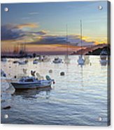 Boats On The Water Acrylic Print