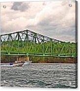 Boats Under Bridge Acrylic Print
