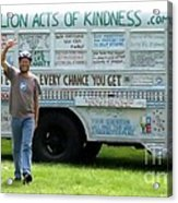 Bob And The Kindness Bus Acrylic Print