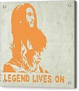 Bob Marley Yellow 4 Acrylic Print