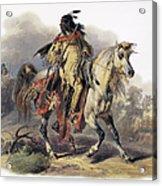 Bodmer: Blackfoot Horseman Acrylic Print