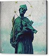 Bohemian Saint Acrylic Print by Linda Woods