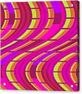 Bold Swirl  Acrylic Print by Louisa Knight