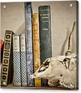 Bone Collector Library Acrylic Print by Heather Applegate