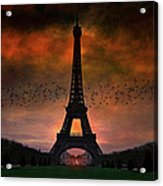Bonsoir Paris Acrylic Print
