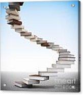 Book Stair Acrylic Print