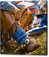 Boots And Quilt On The Trail Acrylic Print