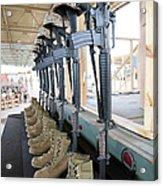 Boots, Rifles, Dog Tags, And Protective Acrylic Print