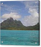 Bora Bora From An Island Motu Acrylic Print