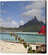 Bora Bora Private Beach Acrylic Print