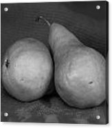 Bosc Pears In Monochrome Acrylic Print