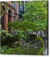 Boston Beacon Hill Street Scenery Acrylic Print