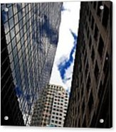 Boston Blue Sky And Stone Acrylic Print