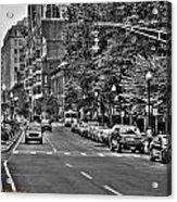 Boston City Scape Acrylic Print by Dan Crosby