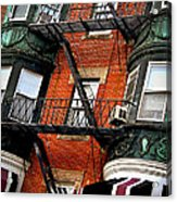Boston House Fragment Acrylic Print by Elena Elisseeva