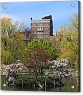 Boston Public Garden Pond In Spring Acrylic Print