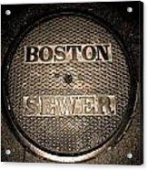 Boston Sewer Acrylic Print