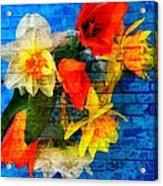 Botanical Graffiti  Acrylic Print