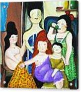 Botero Style Family Acrylic Print