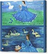 Both Swan Lake Readers Acrylic Print