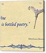 Bottled Poetry Acrylic Print