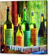 Bottles Of Wine Near Window Acrylic Print
