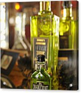 Bottles With Absinthe In Bar Acrylic Print