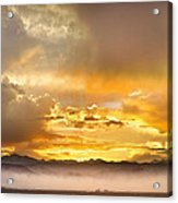 Boulder Colorado Flagstaff Fire Sunset View Acrylic Print