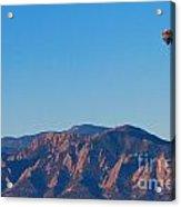 Boulder Colorado Flatirons Hot Air Balloon View Acrylic Print