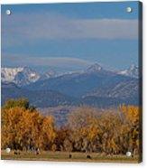 Boulder County Colorado Continental Divide Autumn View Acrylic Print