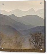 Boulder County Colorado Layers Panorama Acrylic Print