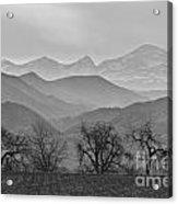 Boulder County Layers Bw Acrylic Print