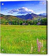Boulder Park View Acrylic Print