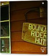 Boundary Riders' Hut Acrylic Print