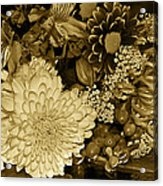 Bouquet In Sepia Acrylic Print