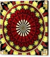 Bouquet Of Roses Kaleidoscope 5 Acrylic Print