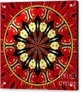 Bouquet Of Roses Kaleidoscope 8 Acrylic Print