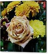 Bouquet With Rose Acrylic Print