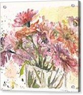 Bouquet Zinnias Acrylic Print