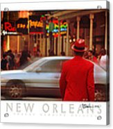 Bourbon Street Man In Red Suit Acrylic Print