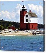 Round Island Light House Michigan Acrylic Print
