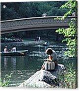 Bow Bridge In Central Park Nyc Acrylic Print